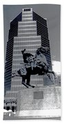 Pancho Villa Statue Downtown Tucson Arizona 1988-2008  Beach Towel