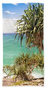 Pandanus Palm Tree Beach Towel