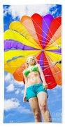 Parasailing On Summer Vacation Beach Towel