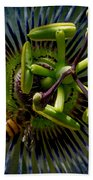 Passion Flower Beach Towel