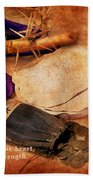 Passion Of Christ Beach Towel