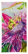 Passionflower Party Beach Towel