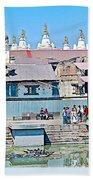 Pasupatinath Temple Of Cremation Complex In Kathmandu-nepal- Beach Towel