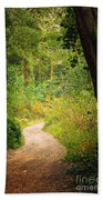 Pathway In The Woods Beach Towel
