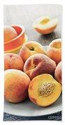 Peaches On Plate Beach Towel