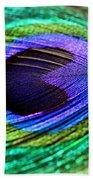 Peacock Feather Beach Sheet