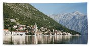 Perast In Kotor Bay Montenegro Beach Towel