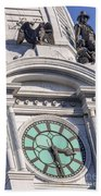 Philadelphia City Hall Clock Beach Towel