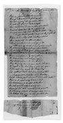 Phillis Wheatley (1753?-1784) Beach Towel