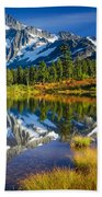 Picture Lake Beach Towel by Inge Johnsson