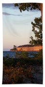 Pictured Rocks At Sunset Beach Towel