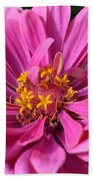 Pink And Yellow Flower Beach Towel
