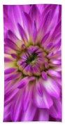 Pink Dahlia Close Up Beach Towel