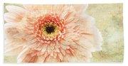 1 Pink Painterly Gerber Daisy Beach Towel