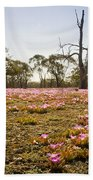 Pink Wildflowers Beach Towel
