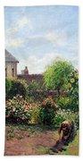 Pissarro's The Artist's Garden At Eragny Beach Towel by Cora Wandel