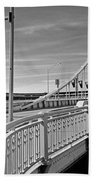 Pittsburgh - Roberto Clemente Bridge Beach Towel by Frank Romeo