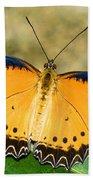 Plain Tiger Butterfly Beach Towel