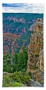 Point Imperial At 8803 Feet On North Rim Of Grand Canyon National Park-arizona   Beach Towel