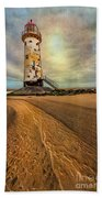 Point Of Ayre Lighthouse Beach Towel by Adrian Evans