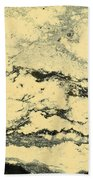 Pollen Of Black Spruce Trees On Water Surface Beach Towel