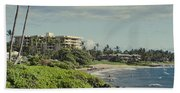 Polo Beach Wailea Point Maui Hawaii Beach Towel