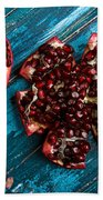 Pomegranate Beach Towel by Nailia Schwarz