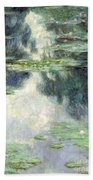 Pond With Water Lilies Beach Towel