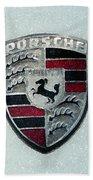 Porsche Emblem  Beach Towel