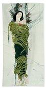 Portrait Of Ida Lvovna Rubinstein Beach Sheet