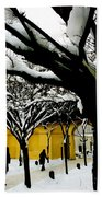 Prague Winter  Beach Towel