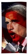 President Barack Obama Beach Towel by Marvin Blaine