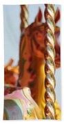 Pretty Carousel Horses Beach Towel
