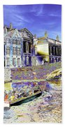 Psychedelic Bruges Canal Scene Beach Towel