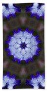 Purple Iris Kaleidoscope Beach Towel