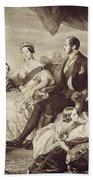 Queen Victoria & Family Beach Towel