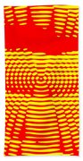 Radial Sunset Beach Towel