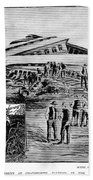 Railroad Accident, 1887 Beach Towel