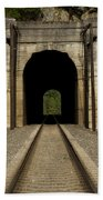Railroad Tunnel 3 Bnsf 1 B Beach Towel