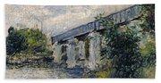 Railway Bridge At Argenteuil Beach Towel