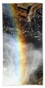 Rainbow And Falls Beach Towel
