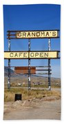 Rawlins Wyoming - Grandma's Cafe Beach Towel