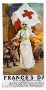 Red Cross Poster, 1915 Beach Towel
