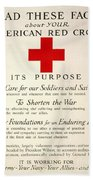 Red Cross Poster, 1917 Beach Towel
