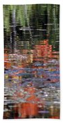 Reflecting Fall Beach Towel
