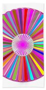 Colorful Signature Art Chakra Round Mandala By Navinjoshi At Fineartamerica.com Rare Fineart Images  Beach Sheet by Navin Joshi