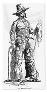 Remington Cowboy, 1887 Beach Towel