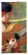 Renoir's Young Spanish Woman With A Guitar Beach Towel
