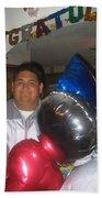 Ricardo Celebrating His High School Graduation Eloy Arizona 2002 Beach Towel
