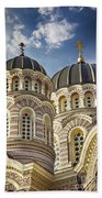 Riga Orthodox Cathedral Beach Towel